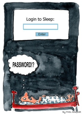 Don't lose sleep over your password Image: HikingArtist.com