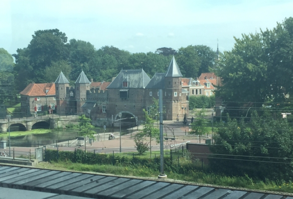 The Koppelpoort as seen from the new library in Amersfoort.